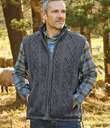 Men's Aran Zip-up Vest