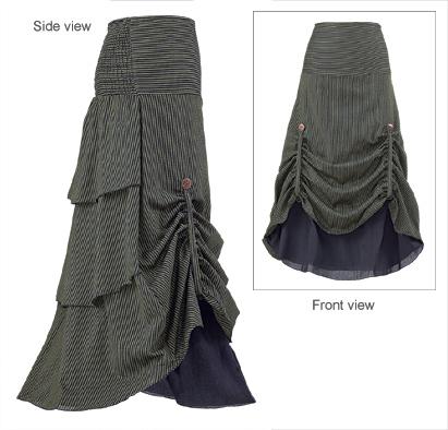 Striped Steampunk Skirt