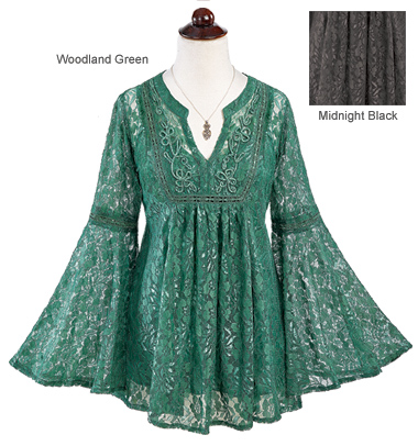 Lace Bell-Sleeve Tunic