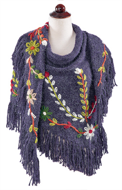 Floral Embroidered Shawl