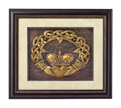 Bronze Claddagh Plaque
