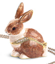 Bunny Keepsake Box with Tiny Pendant