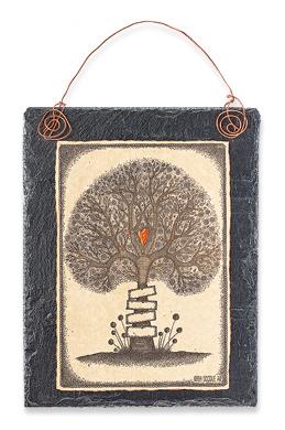 Tree of Life Family Print on Slate