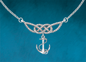 Fisherman's Knot & Anchor Necklet