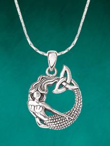 Mermaid Trinity Knot Pendant
