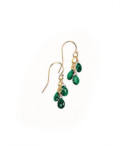 Emerald Trio Earrings