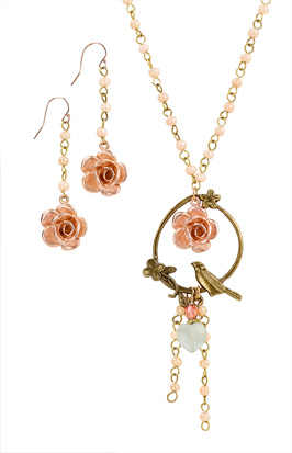 Rose-gold Flower Jewelry