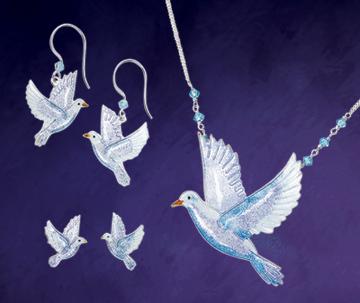 Enameled Dove Jewelry