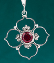 Quatrefoil with Garnet Jewelry