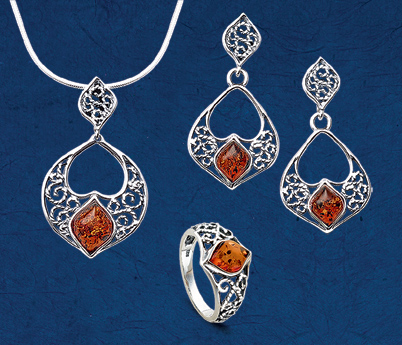 Filigree Amber Jewelry