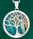Scottish Heathergems Tree of Life Pendant & Earrings