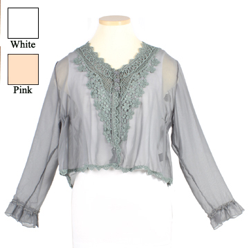 Lace Button Top