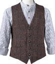 Tweed Vest & Flannel Grandfather's Shirt