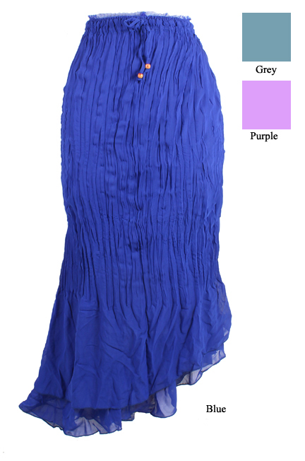 Asymmetric Pleated Skirt