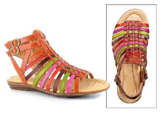 Multi-Hued Gladiator Sandals
