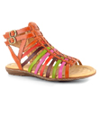 Multi-Hued Gladiator Sandals