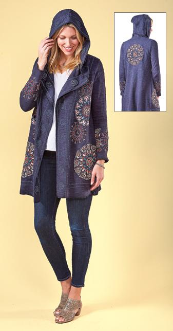 Mandala Hoodie Jacket