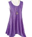 Ripple-Stitched Sleeveless Tunic