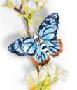 Enameled Butterfly Ornaments