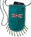 Velvet Phone Bag with Dragonfly