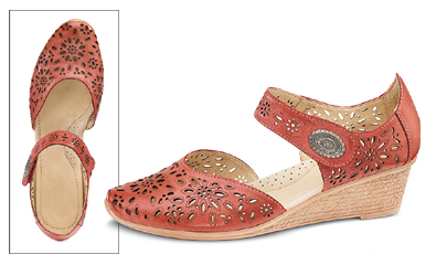 Coral Wedge Shoes