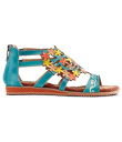 Multi-colored Flowers Sandals
