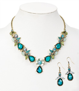 Faceted Teal Jewelry Set