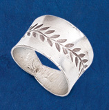 Rustic Leaf Ring