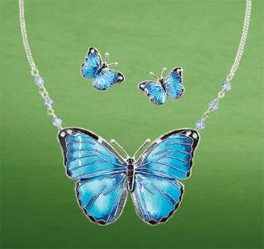 Blue Butterfly Jewelry