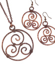 Rustic Copper Spiral Jewelry
