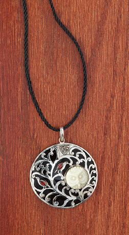 Carved Owl Spirit Pendant