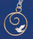 Dove Spiral Earrings