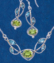 Blue Topaz and Peridot Jewelry