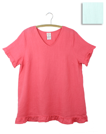V Neck Ruffled Top