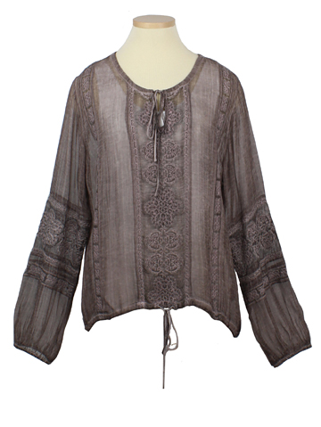 Sheer Peasant Top