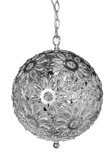 Clear Jeweled Hanging Globe