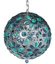 Blue Jeweled Hanging Globe