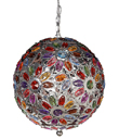 Multicolor Jeweled Hanging Globe