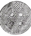 Celtic Cross Kilt Buckle
