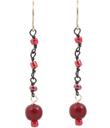 Red Horn Dangle Earrings