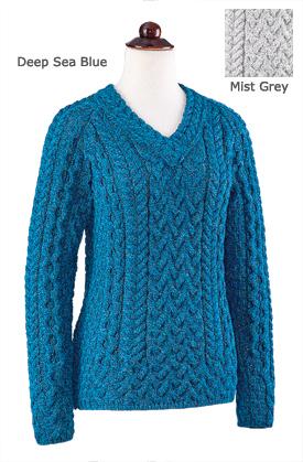 Aran V-neck Pullover