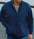 Men's Zip and Drawstring Sweater