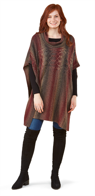 Cowl-Necked Poncho