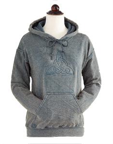 Grey Trinity Knot Hooded Sweatshirt