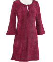 Chenille Bell-Sleeved Dress