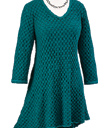 Swingy Texture-Knit Tunic