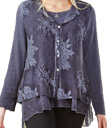 Embroidered Layered Top
