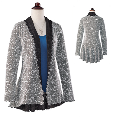 Baroque Paisley Swing Jacket