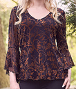 Woodland Devore Velvet Top