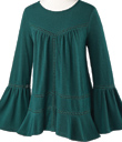 Green Bell-Sleeved Tunic